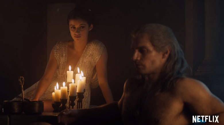 Йеннифер и Геральт в ванной